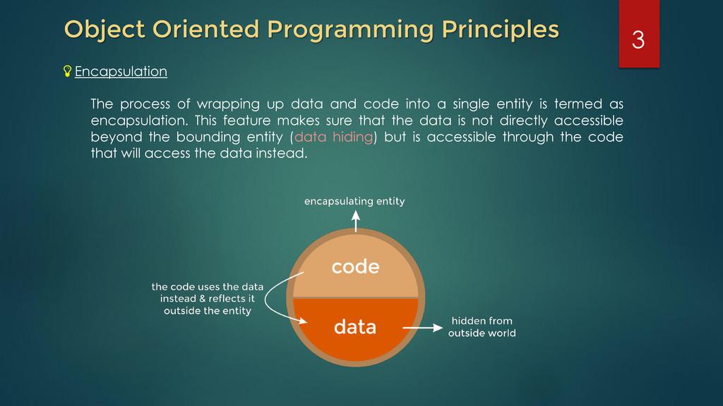 Object Oriented Programming Principles Encapsul...
