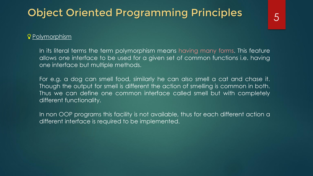 Object Oriented Programming Principles Polymorp...