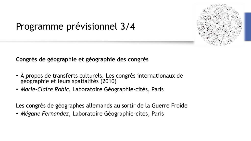 Programme prévisionnel 3/4 Congrès de géographi...
