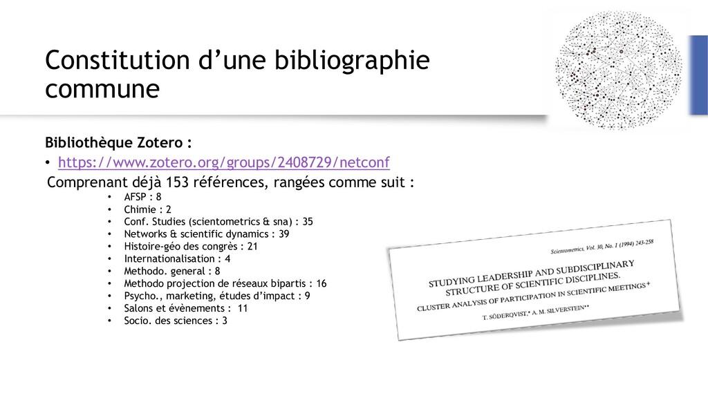 Constitution d'une bibliographie commune Biblio...