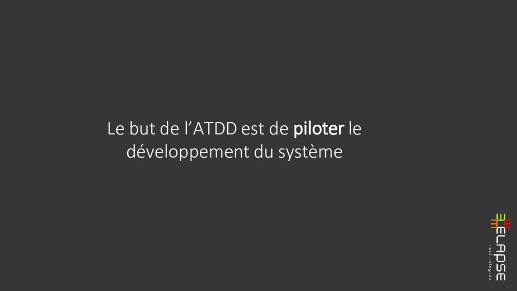 Le but de l'ATDD est de piloter le développemen...