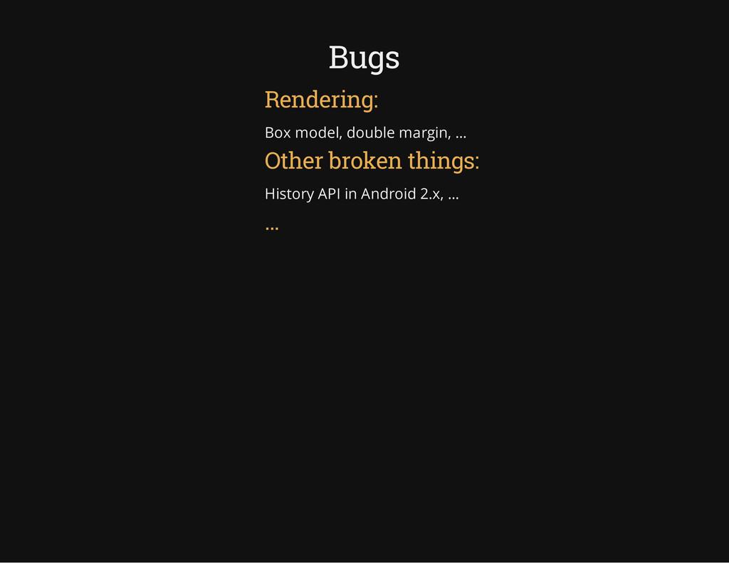 Bugs Rendering: Box model, double margin, ... O...