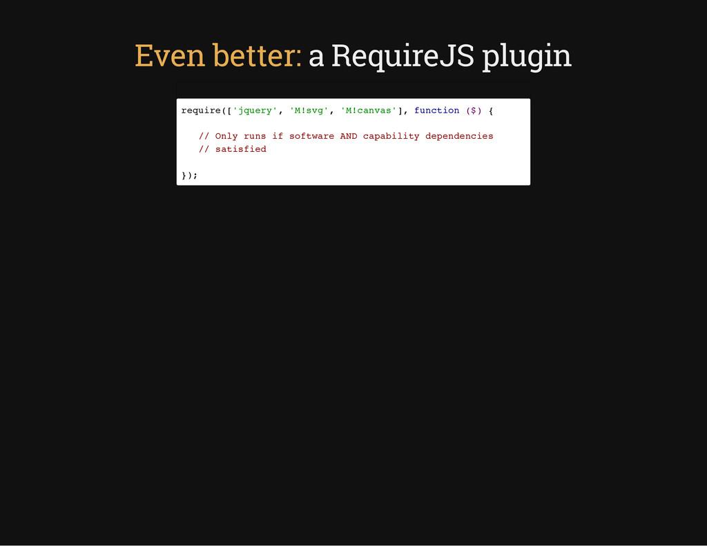 Even better: a RequireJS plugin r e q u i r e (...