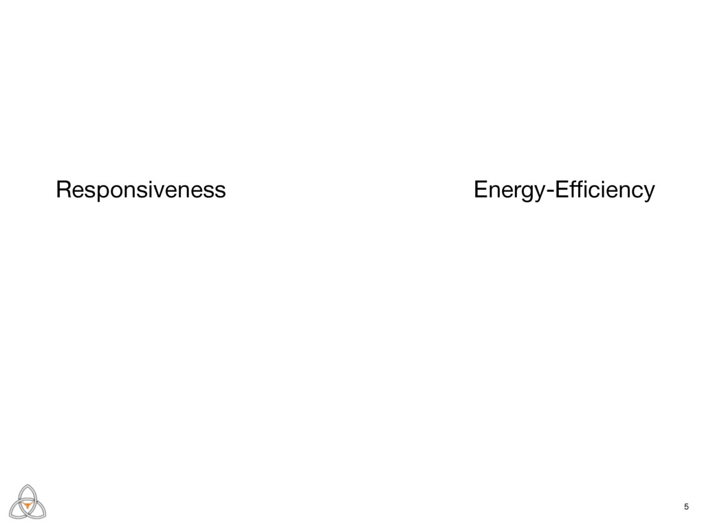 Responsiveness Energy-Efficiency 5