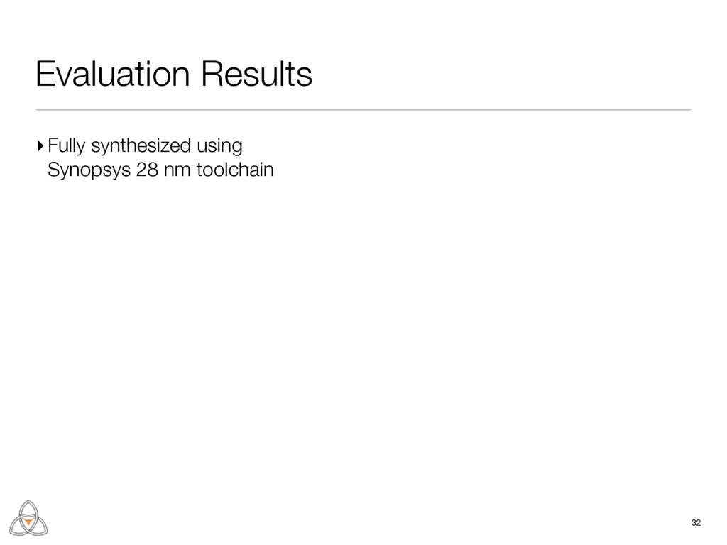 Evaluation Results 32 ▸Fully synthesized using ...