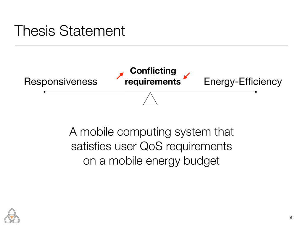 Thesis Statement 6 Energy-Efficiency Conflicting r...
