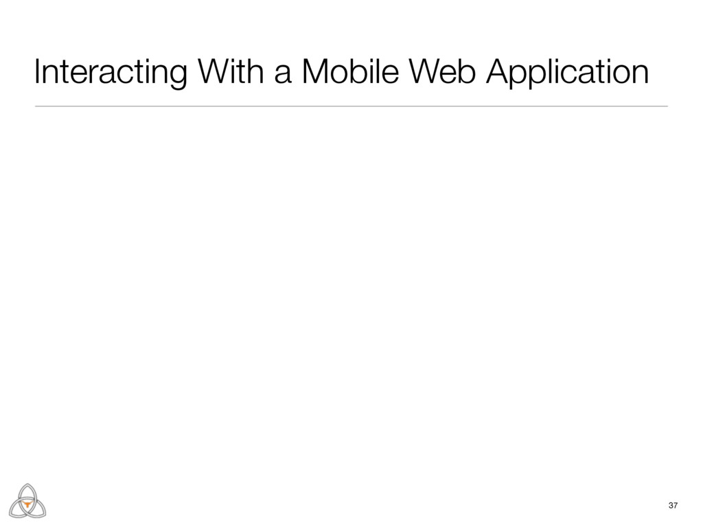Interacting With a Mobile Web Application 37