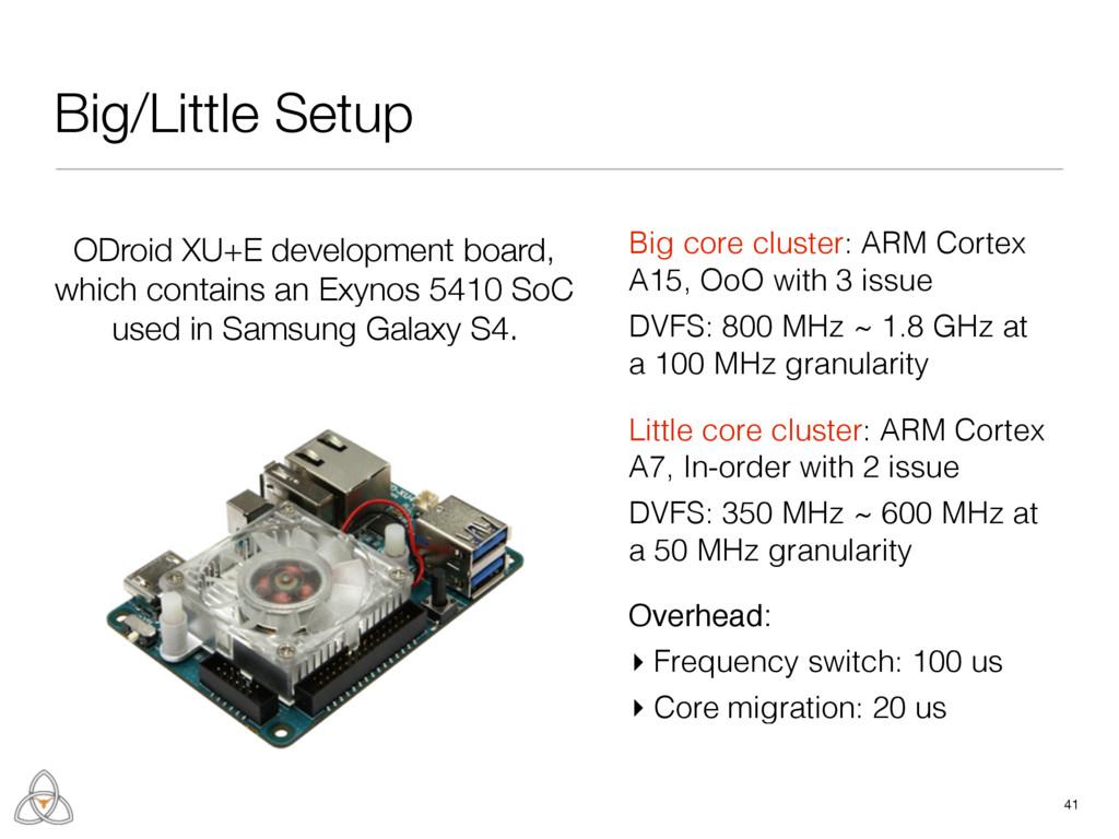 Big/Little Setup 41 Little core cluster: ARM Co...