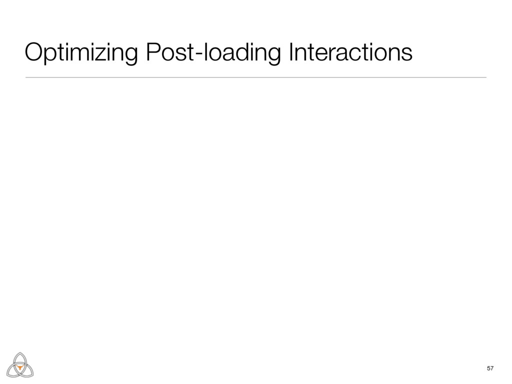 57 Optimizing Post-loading Interactions