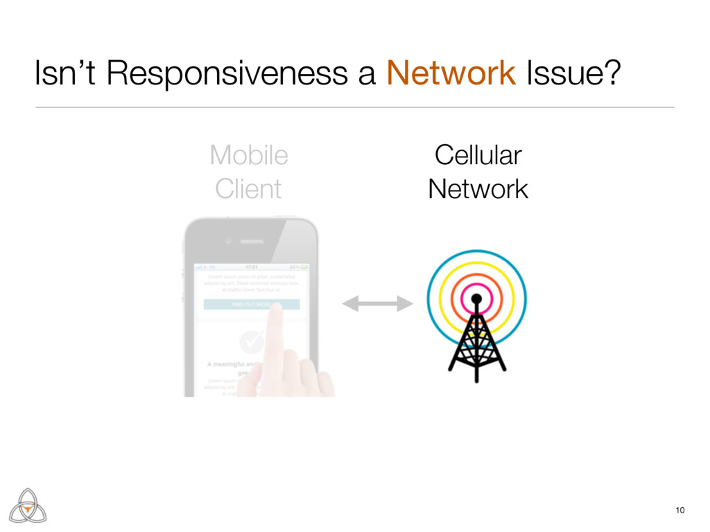 10 Isn't Responsiveness a Network Issue? Mobile...