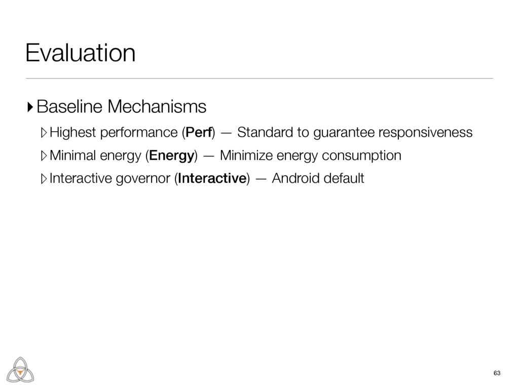Evaluation ▸Baseline Mechanisms ▹Highest perfor...
