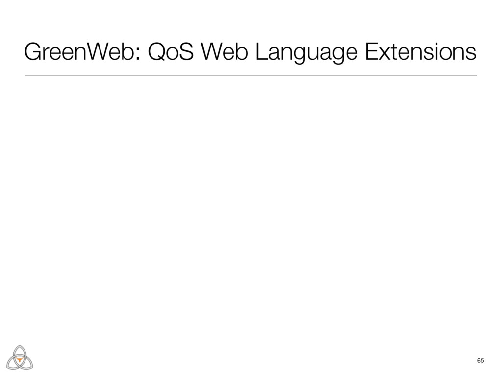 65 GreenWeb: QoS Web Language Extensions