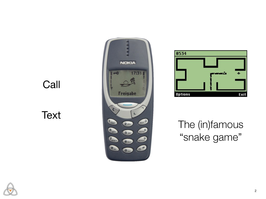 "Call Text The (in)famous ""snake game"" 2"