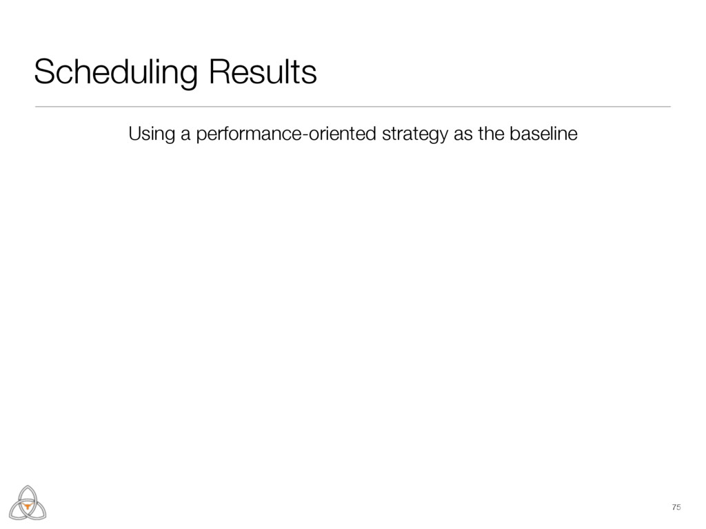 Scheduling Results 75 Using a performance-orien...