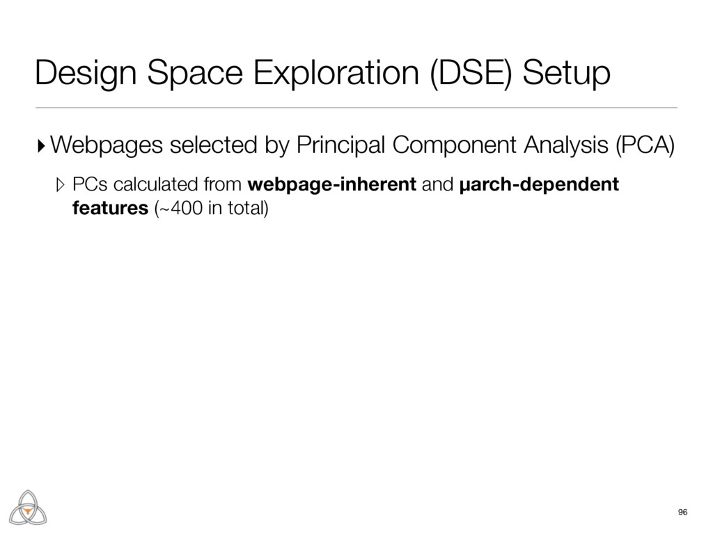 Design Space Exploration (DSE) Setup ▸Webpages ...