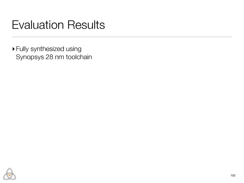 Evaluation Results 100 ▸Fully synthesized using...