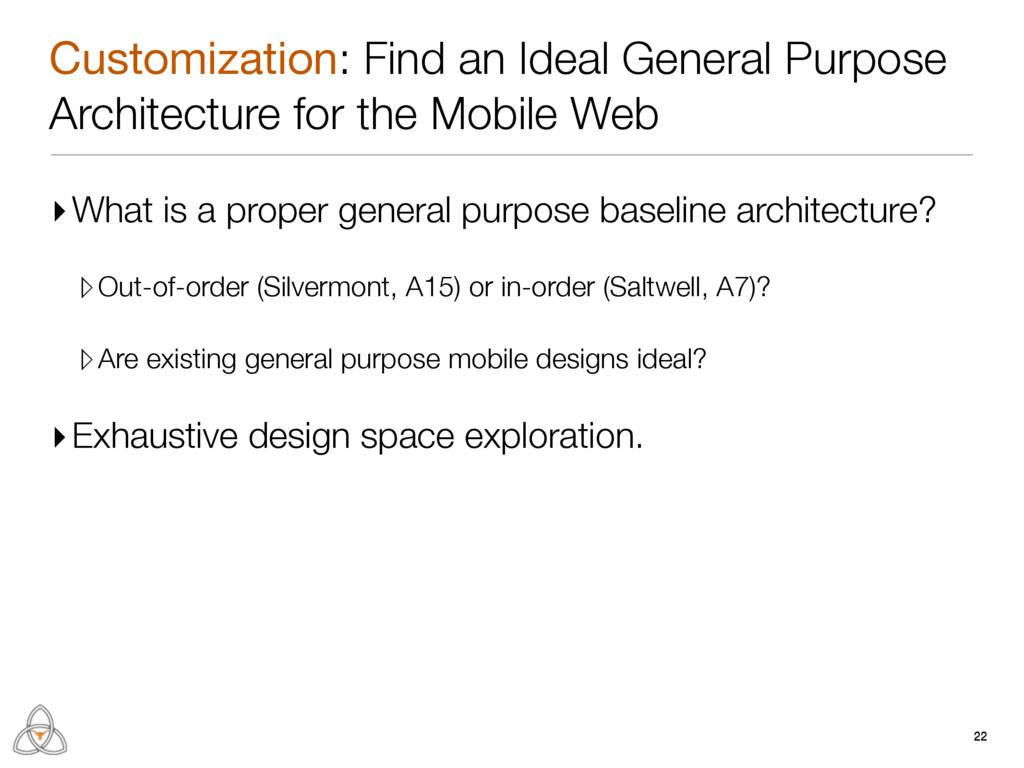 Customization: Find an Ideal General Purpose Ar...