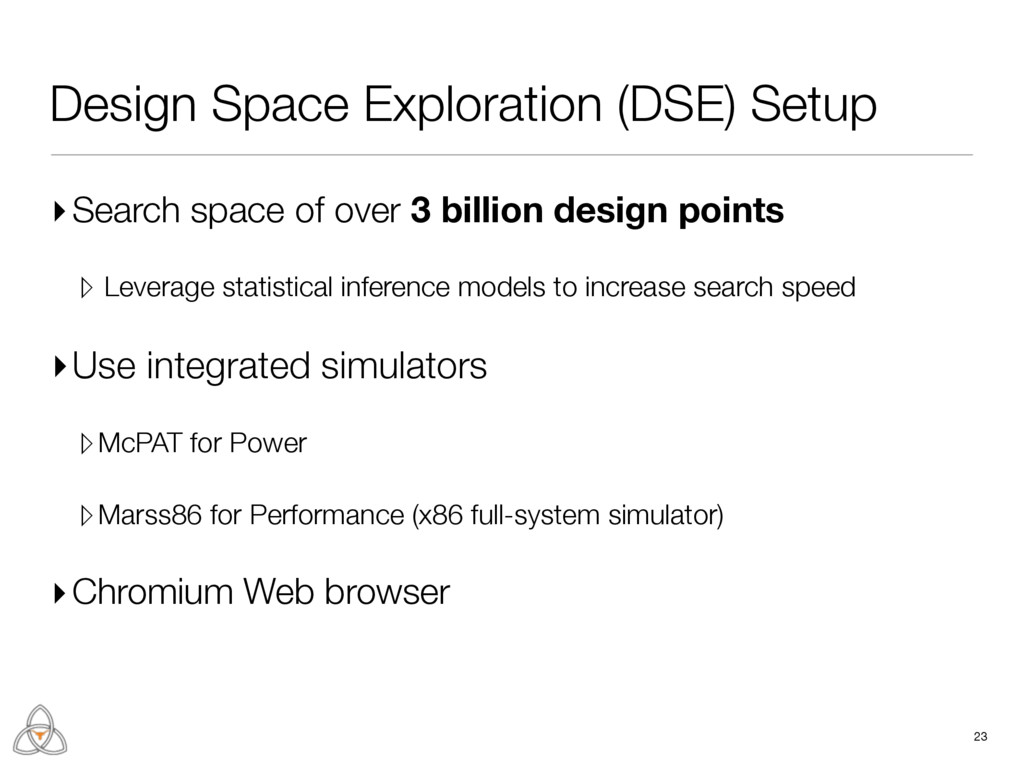 Design Space Exploration (DSE) Setup ▸Search sp...