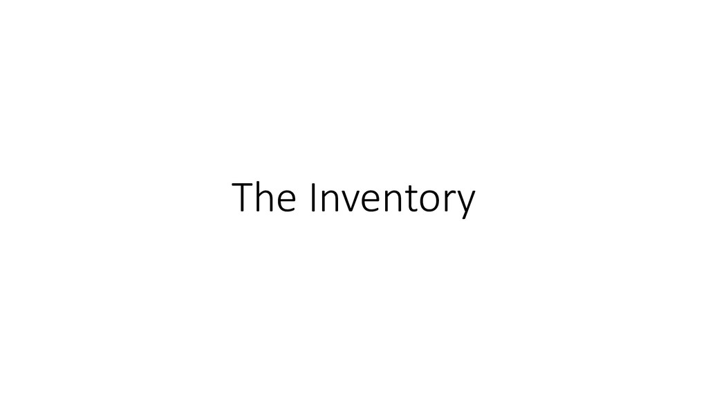 The Inventory