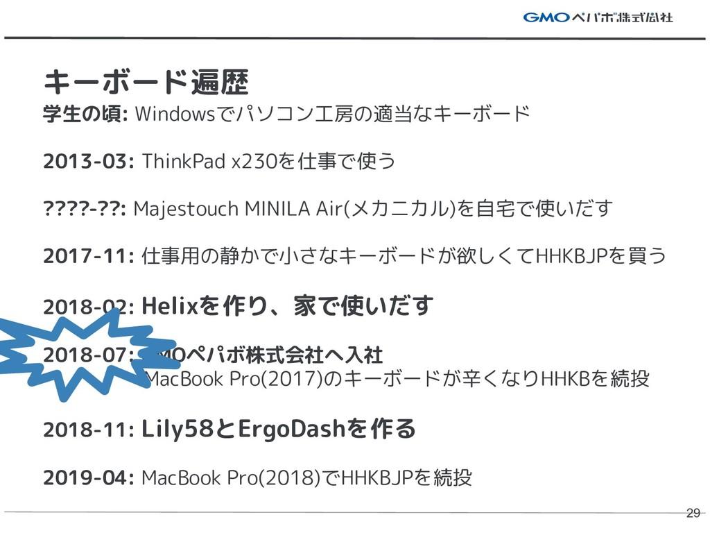 学生の頃: Windowsでパソコン工房の適当なキーボード 2013-03: ThinkPad...