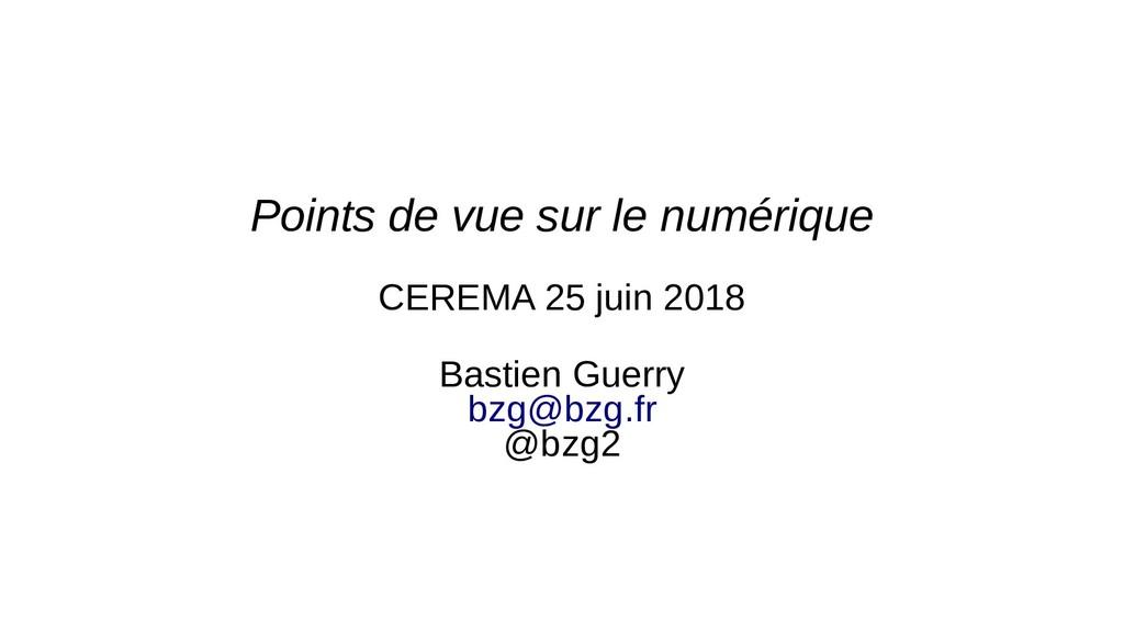 Points de vue sur le numérique CEREMA 25 juin 2...