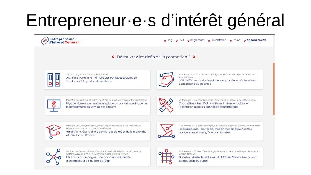 Entrepreneur·e·s d'intérêt général