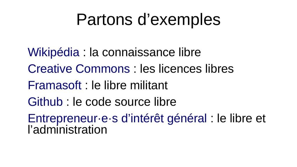 Partons d'exemples Wikipédia : la connaissance ...