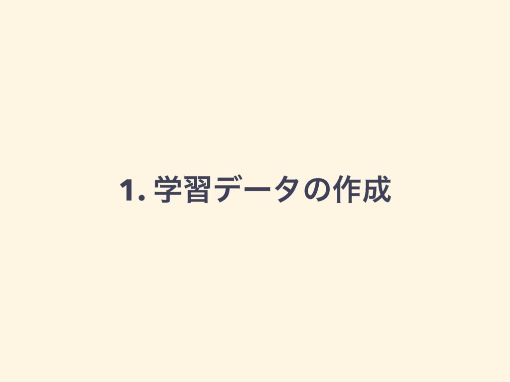 1. ֶशσʔλͷ࡞