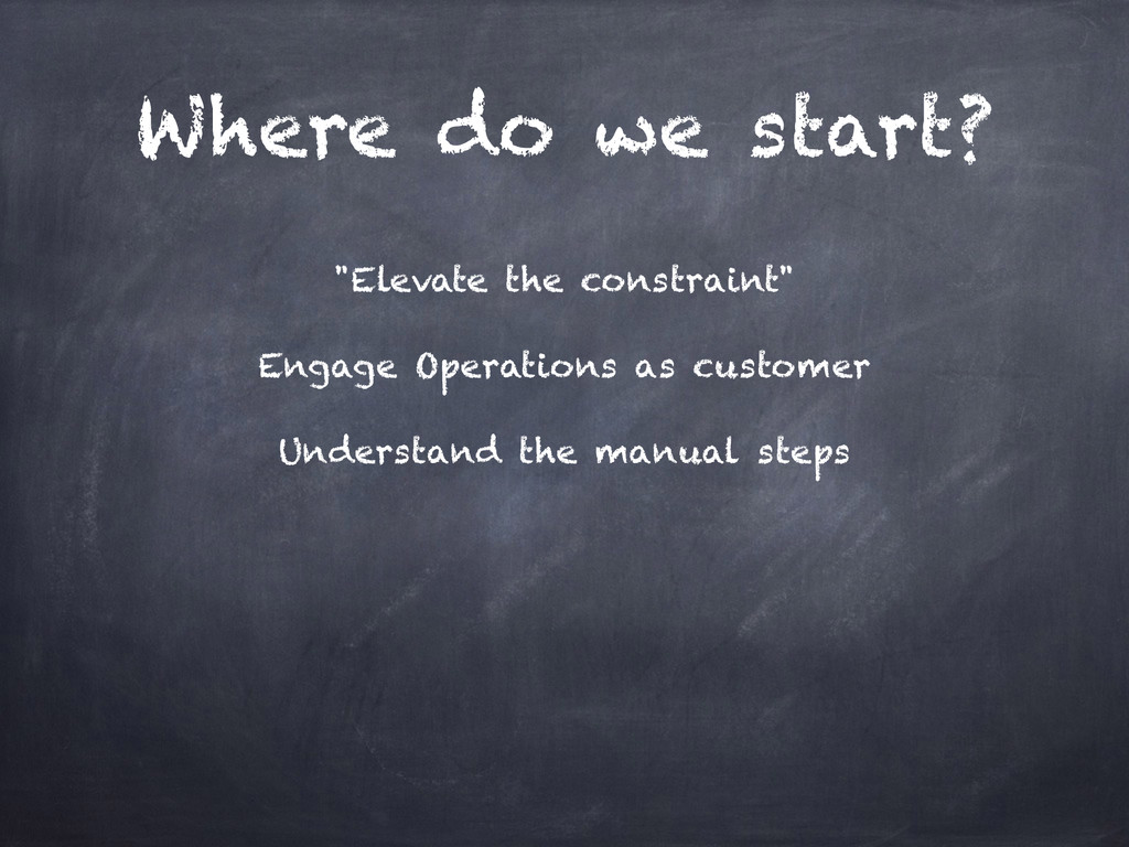 """Where do we start? """"Elevate the constraint"""" Eng..."""