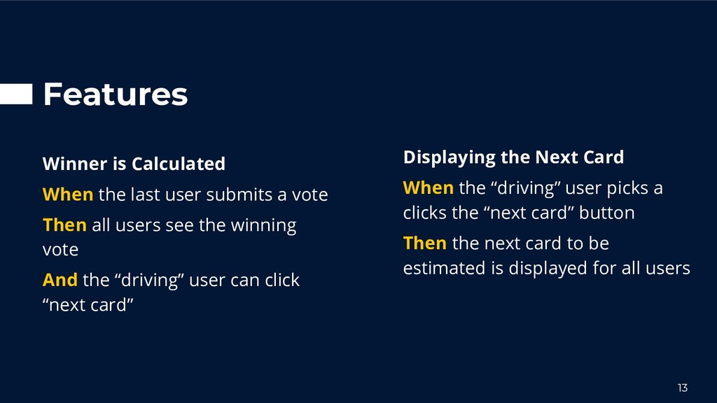 """Displaying the Next Card When the """"driving"""" use..."""