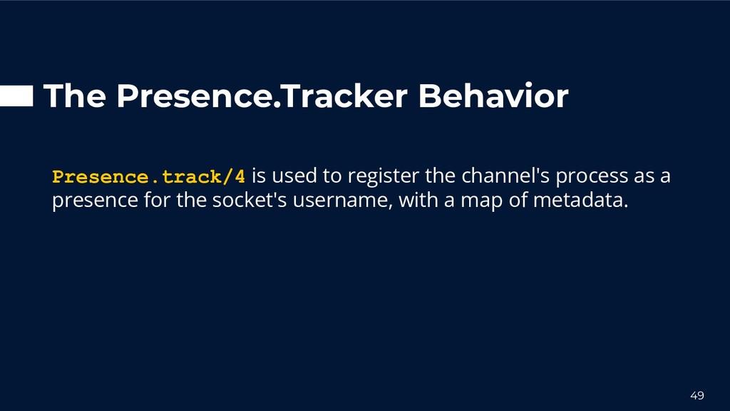The Presence.Tracker Behavior Presence.track/4 ...