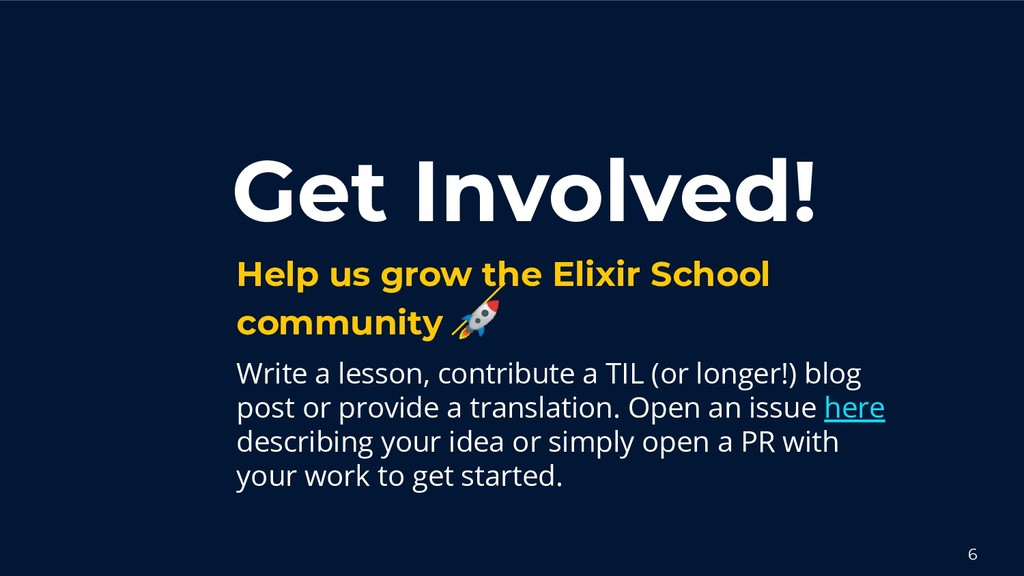 Get Involved! Help us grow the Elixir School co...