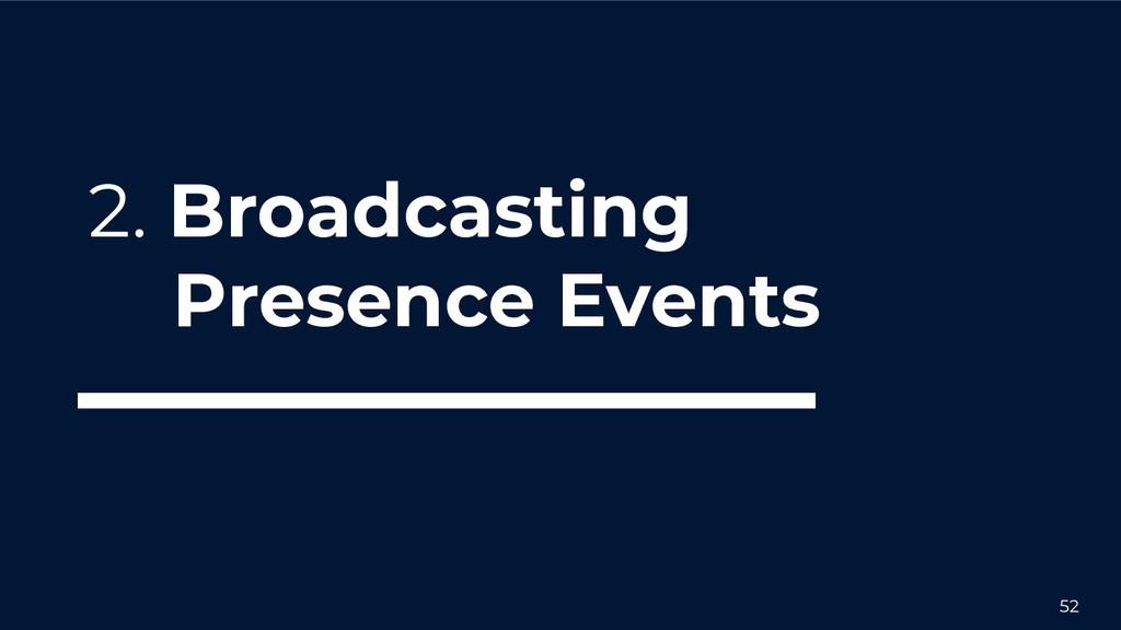 52 2. Broadcasting Presence Events