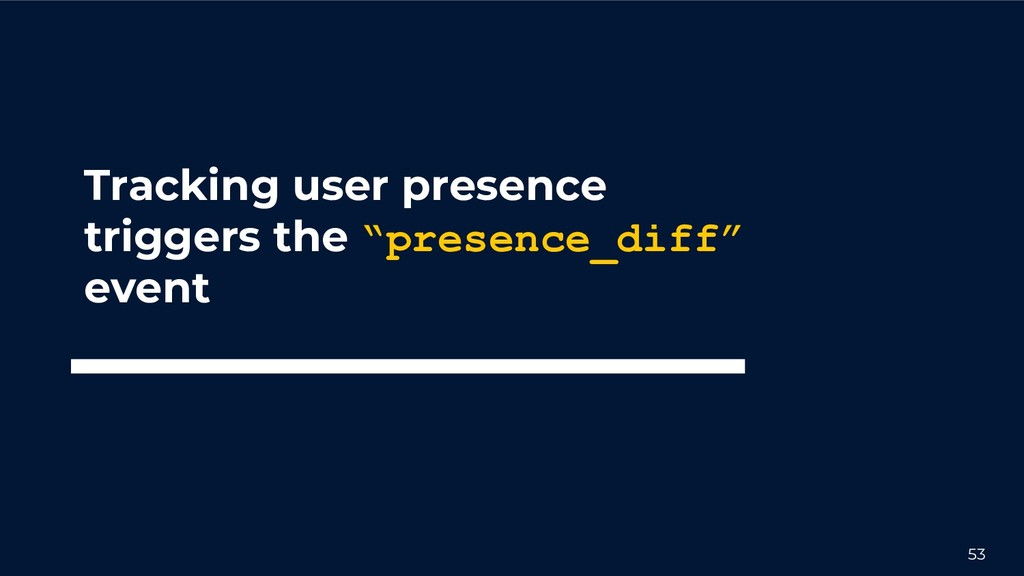 """53 Tracking user presence triggers the """"presenc..."""