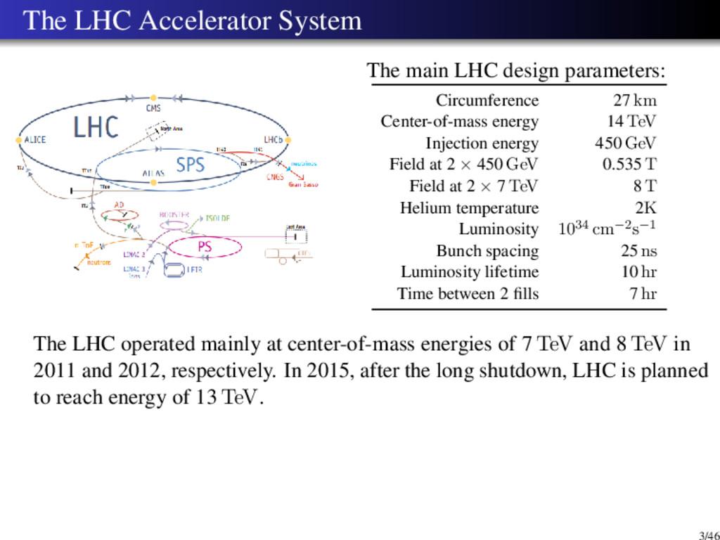 The LHC Accelerator System The main LHC design ...
