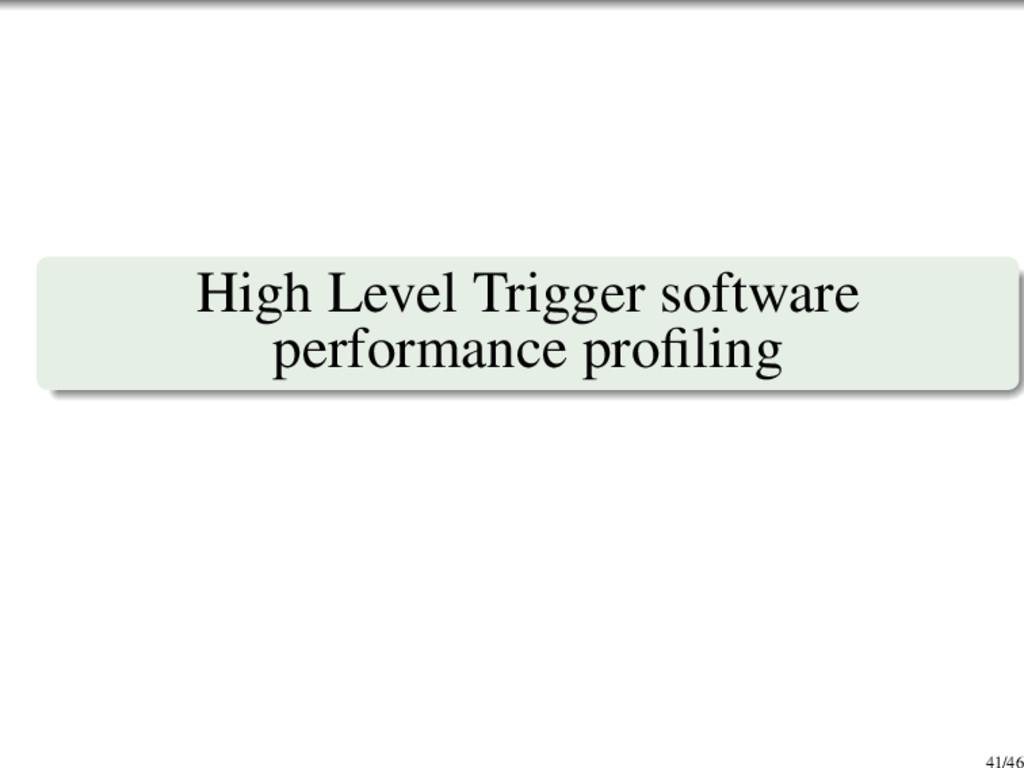 High Level Trigger software performance profilin...
