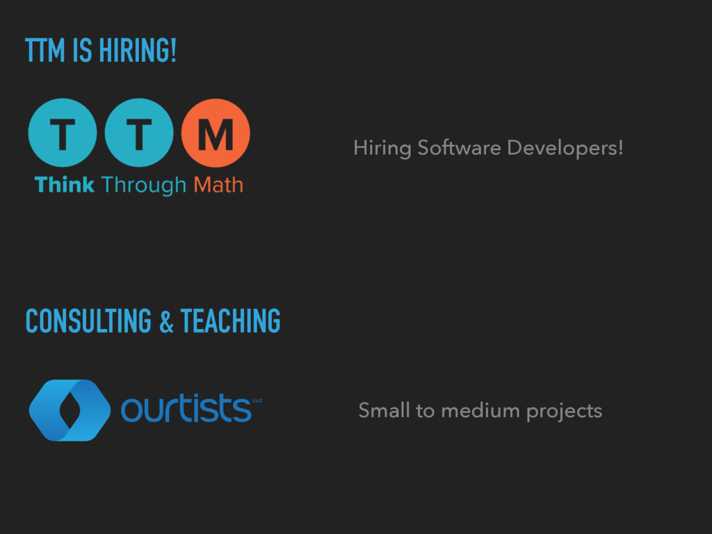 Hiring Software Developers! TTM IS HIRING! CONS...
