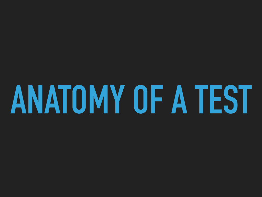 ANATOMY OF A TEST