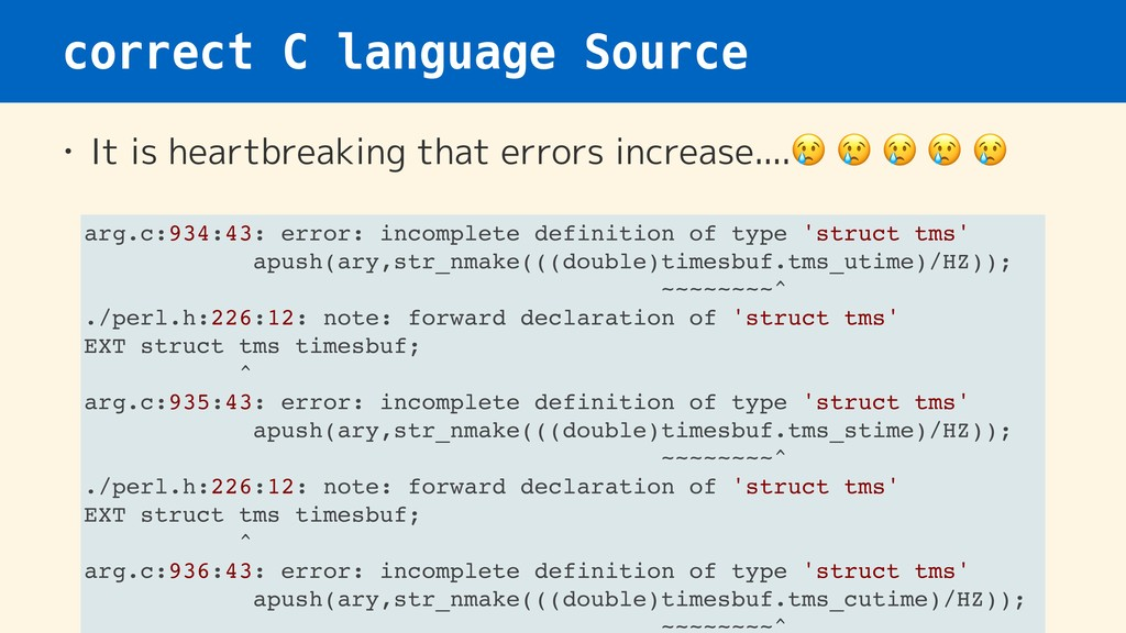 correct C language Source • It is heartbreaking...