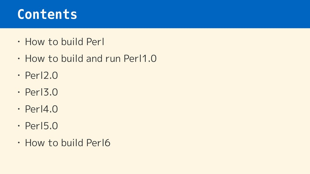 Contents • How to build Perl • How to build and...