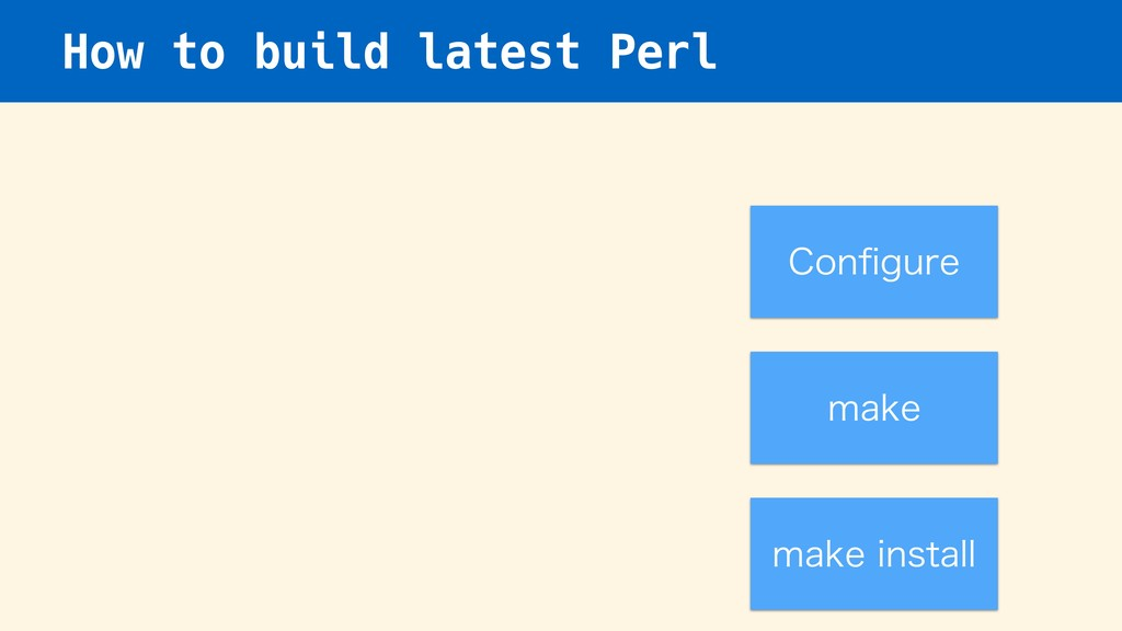 How to build latest Perl $POpHVSF NBLF NBLFJOT...