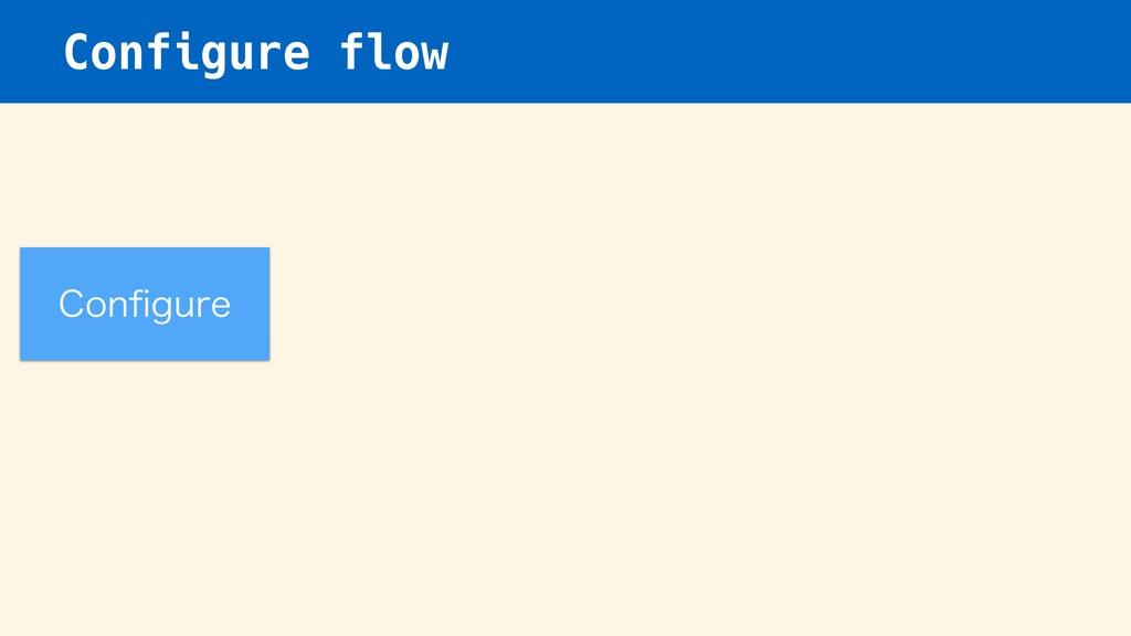 Configure flow $POpHVSF