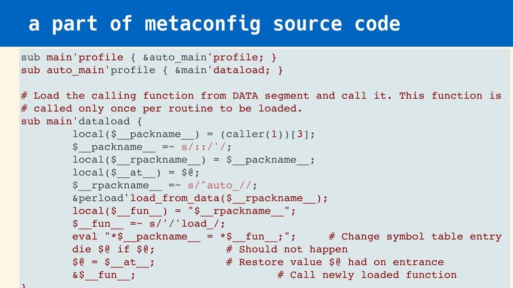 a part of metaconfig source code sub main'profi...