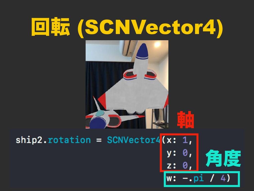 ճస (SCNVector4) ࣠ ֯