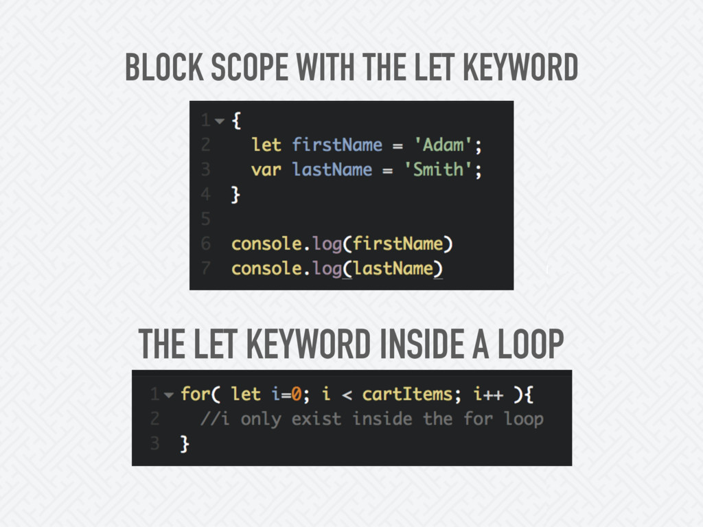 BLOCK SCOPE WITH THE LET KEYWORD THE LET KEYWOR...