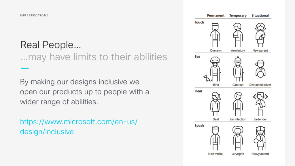 Real People… By making our designs inclusive we...