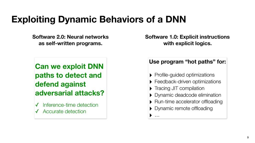 Exploiting Dynamic Behaviors of a DNN 9 Softwar...