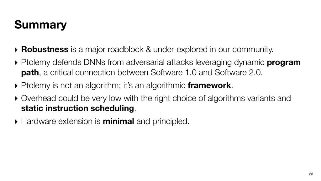 Summary ‣ Robustness is a major roadblock & und...