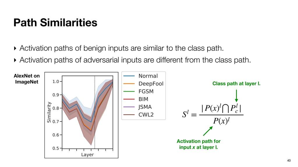 Path Similarities 40 ‣ Activation paths of beni...