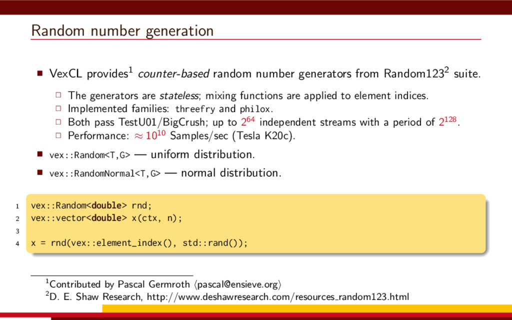 Random number generation VexCL provides1 counte...